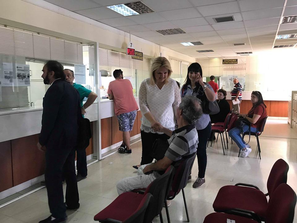 Τα γραφεία και τα ιατρεία του ΙΚΑ Χαλκίδας επισκέφθηκε ο συνδυασμός «Αλλάζουμε»